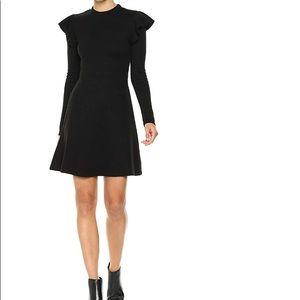 Anthropologie JOA ruffle long sleeve dress Small